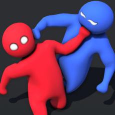 抖音红蓝橡胶人