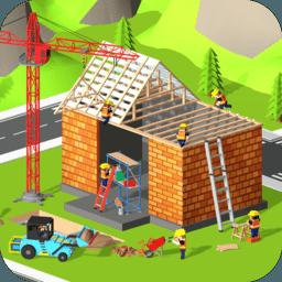 模擬挖掘機建房子