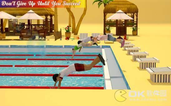 真正的游泳池水上比赛图1