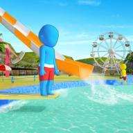 水上乐园水上滑梯乐趣