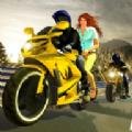越野摩托自行车车手种族