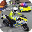 警车驾驶骑摩托车手机版