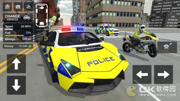 警车驾驶骑摩托车手机版图1