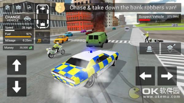 警车驾驶骑摩托车手机版图2