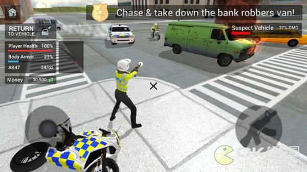 警车驾驶骑摩托车手机版图3