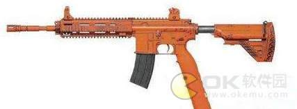 刺激战场s6赛季枪械皮肤:M416赤橙