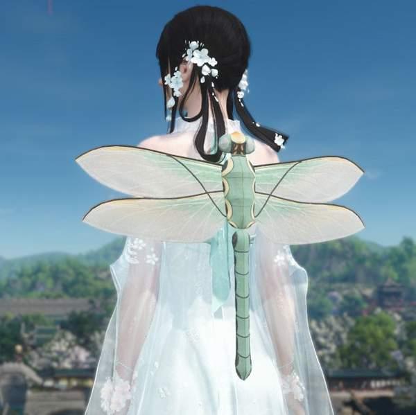 逆水寒纸鸢背饰蝴蝶蜻蜓外观