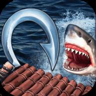 木筏求生饑餓鯊魚來襲