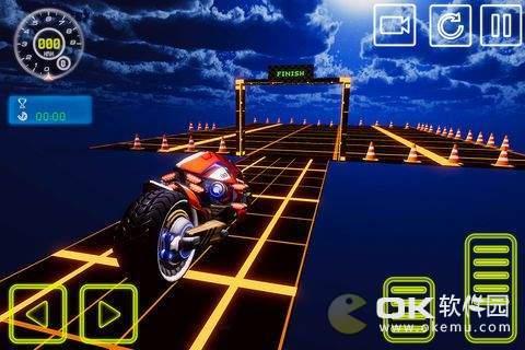 霓虹灯自由泳自行车特技模拟图1