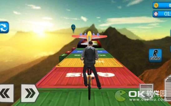 坡道自行车特技图2