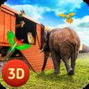 动物园动物运输火车驾驶