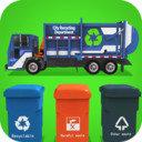 垃圾車傾倒司機取貨和回收
