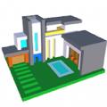 现代房屋三维图画书