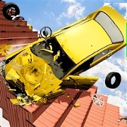 光束驱逐死亡楼梯车撞车模拟器