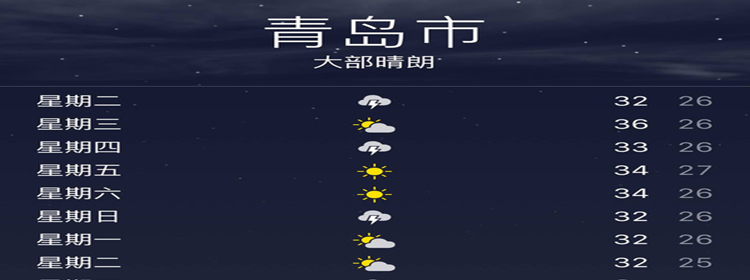 查看青島天氣的軟件