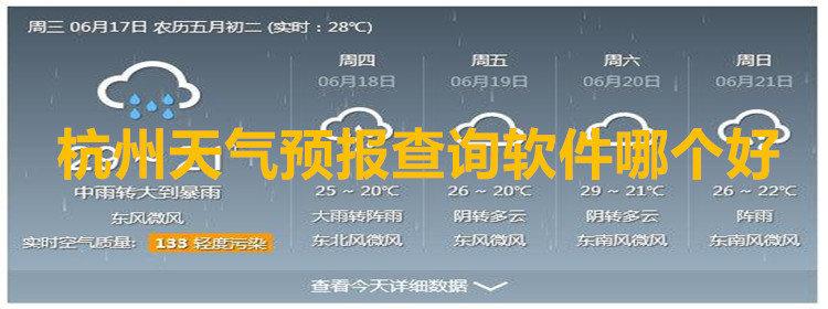 杭州天气预报查询软件