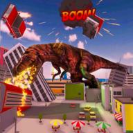 恐龙摧毁城市模拟