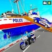 警车船运输模拟器